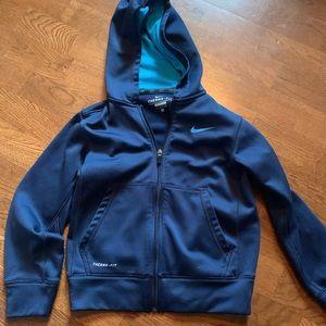 Boys small navy nike hoodie